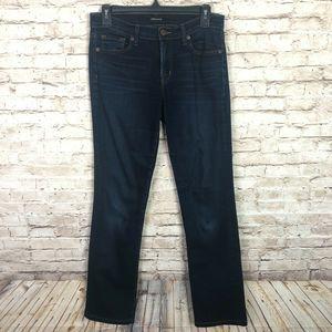 J BRAND Mid Rise Cigarette Leg Dark Wash Jeans